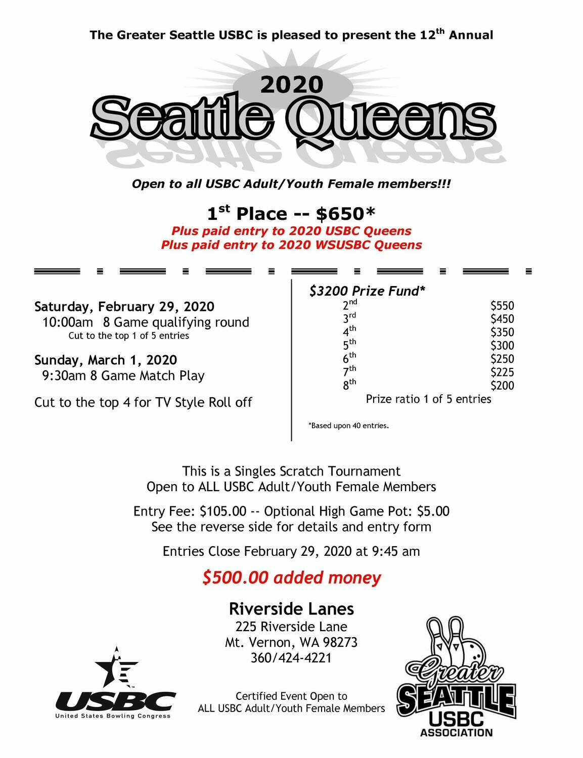 Seattle Queens Tournament