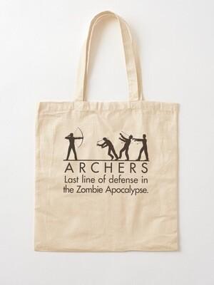 Archer Vs zombies Cotton Tote