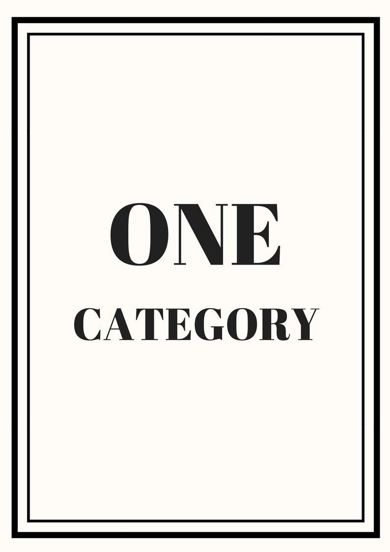 One Category - $99.00
