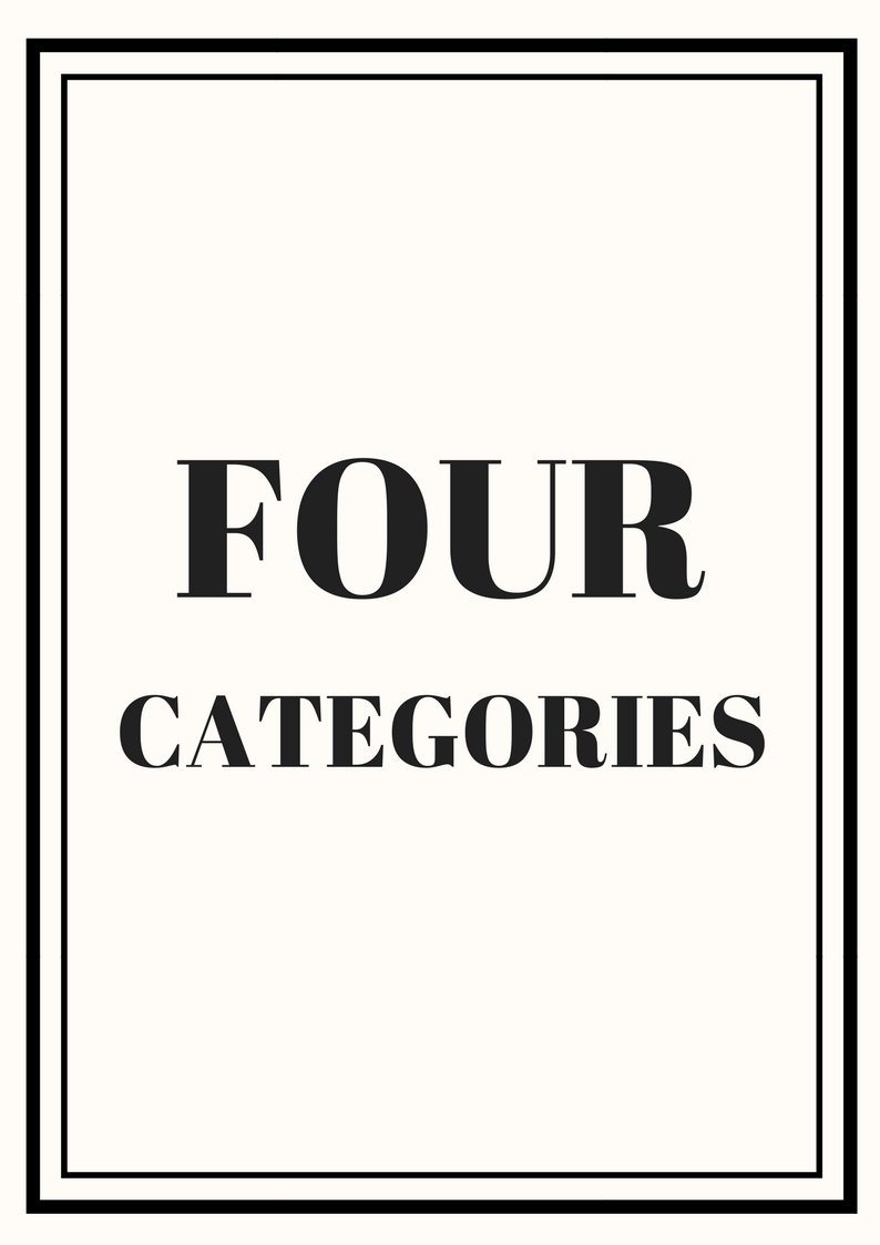 Nine Categories - $490.00