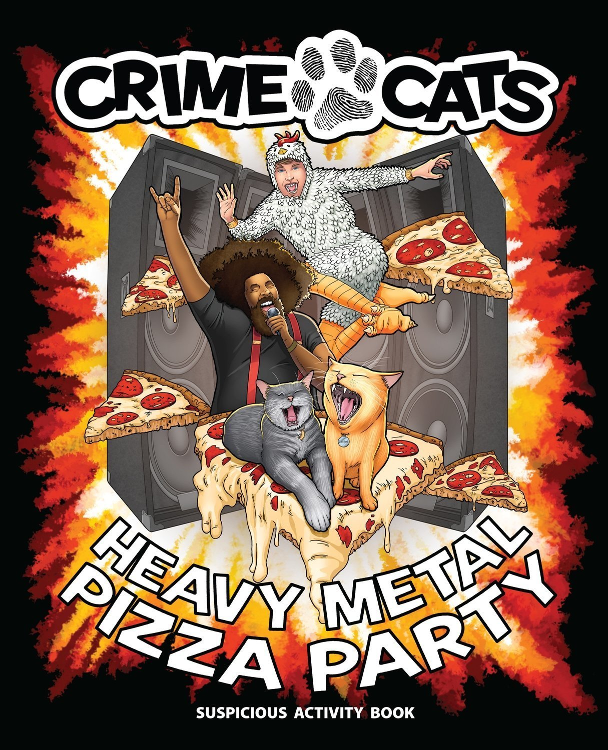 Crime Cats: Heavy Metal Pizza Party - Activity Book