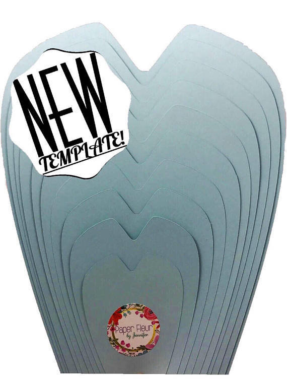 """Paper Flower Template """"CATALINA"""" Style Template"""