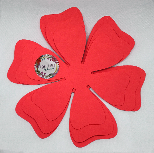 "Mini Paper Flower Template ""MIA"" Style Template"