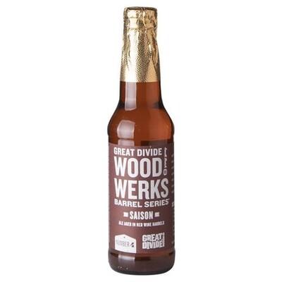 Great Divide Brewing Company - Wood Werks Barrel Series #4 Saison - 355ML
