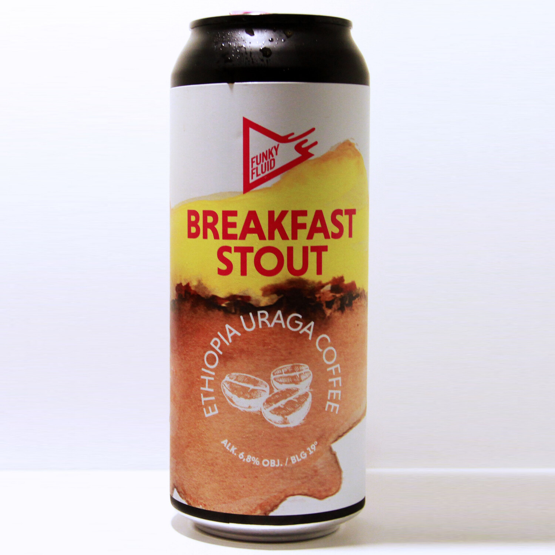 Funky Fluid Breakfast Stout: Ethiopia Uraga Coffee CANS 50cl