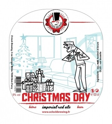 O'clock Brewing (FR) - Christmas Day - (Red Ale - 9,5%) -  bouteille 33cl