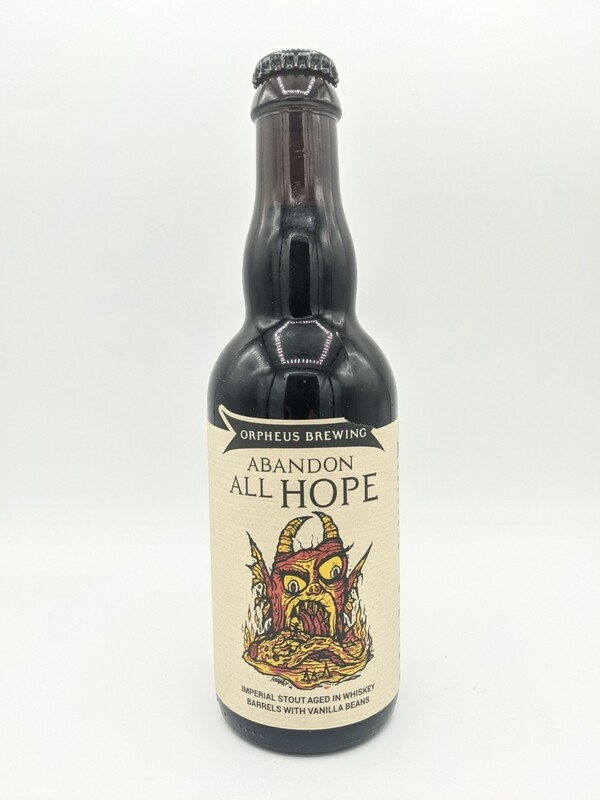 Orpheus (USA) - Abandon all hope - Imperial Stout vanille, Barrel Aged Whiskey- 13% - Bouteille 37.5cl