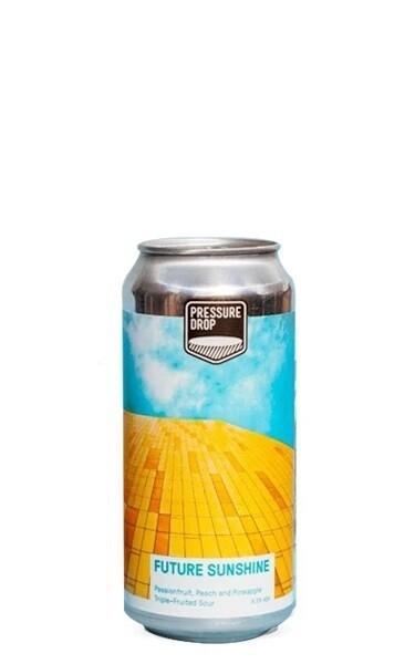 Pressure Drop (UK) - Future Sunshine - Sour Peche, Ananas, Fruit de la passion - 6,5% - Canette 44cl