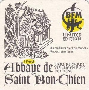 [Bière 1 litre Pression : Growler] Brasserie des Franches-Montagnes (BFM) - Suisse - Abbaye de Saint Bon Chien - Bière de garde vieillie en fût de chêne - Sour