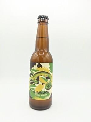 Hoppy Road (FR) - Chameleon - Saison acidulée à la menthe et au poivre blanc - 6.5% - Bouteille 33cl