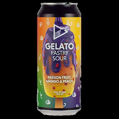 Funky Fluid (POL) - Gelato : Passion Fruit Mango & Peach (Sour - 5,5%) - Canette 50cl