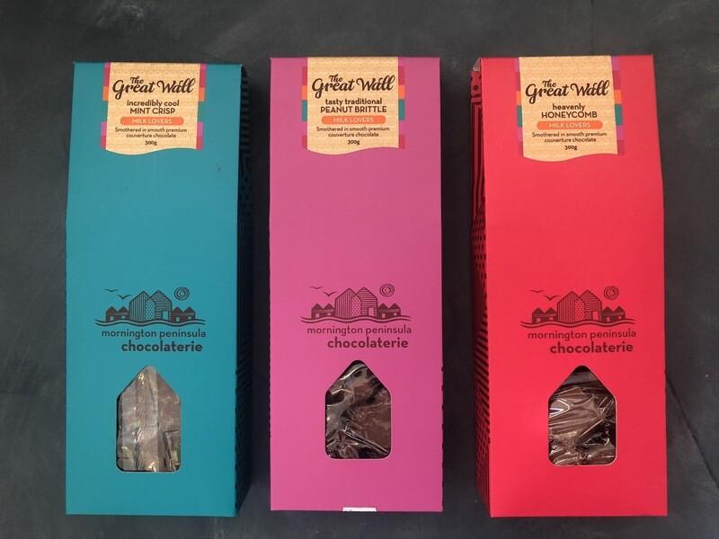 Honeycomb Great Wall Milk Lovers Pack - Mornington Peninsula Chocolaterie