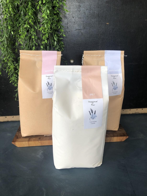 French Red Stoneground Flour (2kg) Tuerong Farm
