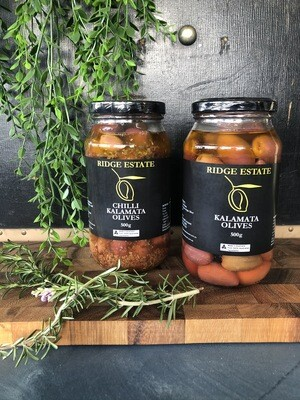 Kalamata Chilli Olives - Ridge Estate