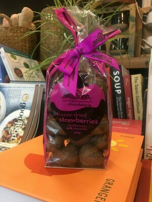 Milk Choc Coated Freeze Dried Strawberries - Mornington Peninsula Chocolaterie