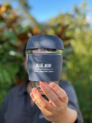 Blue Mini Glass Reusable Coffee Cup - Joco