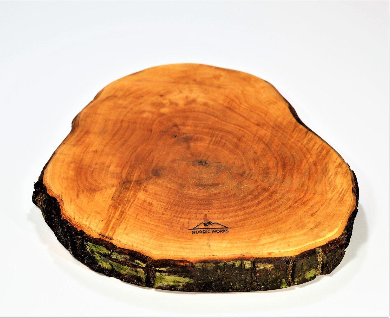 Rodajas de presentación de alimentos - Wood slice board