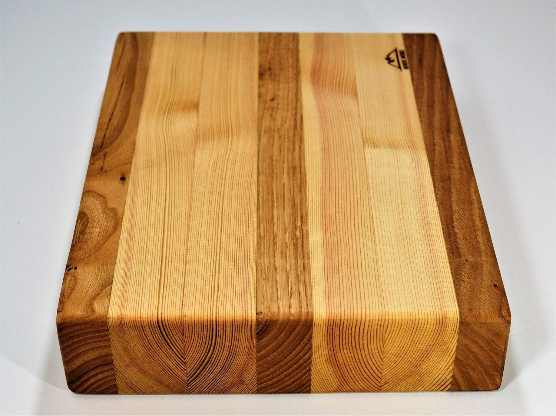 Tabla de corte de Castaño Gallego y Pino Sueco - Edge Grain Cutting Board