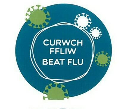 Sticer Curwch Ffliw 2020 / Beat Flu Sticker 2020