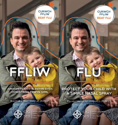 Ffliw. Amddiffyn eich plentyn 2020-21/  Flu. Protect your child 2020-21*