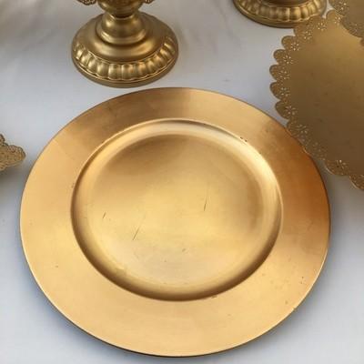 Light Gold - Round Shinny  -  Platter / Plate - Code GR22