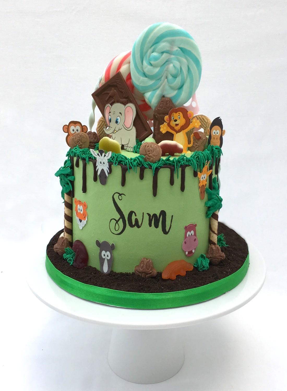 Jungle Chocolate Drip & Giant Lollies Cake