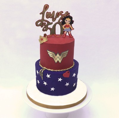 Super Woman Cake - Two Tier - Edible Image Cake