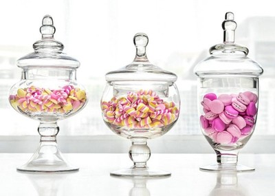 Glass - Apothecary - Candy, Sweet, Storage Jars - Code:  AGJ012