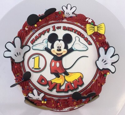 Mickey Mouse Edible Image Cake