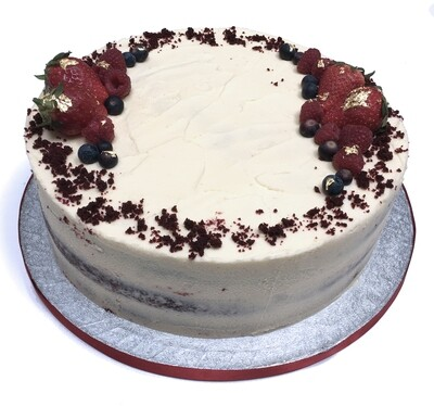 Red Velvet Sponge With Cream Cheese Filling and Icing.