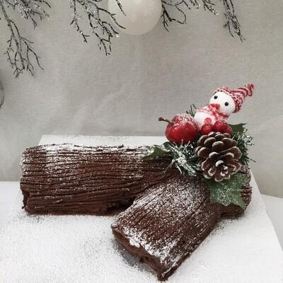 Chocolate Flavoured Roulade Christmas Log