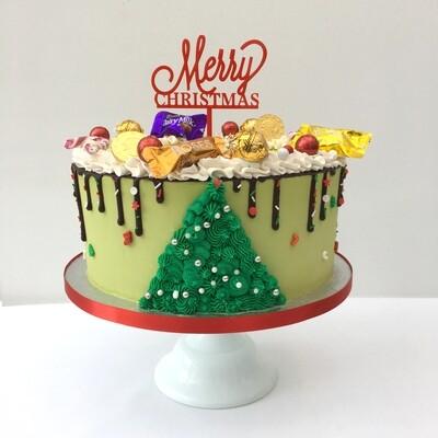 Standard Height Butter Cream Christmas Cake