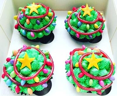Christmas Lights -Cupcakes  - Minimum order 12 Cupcakes