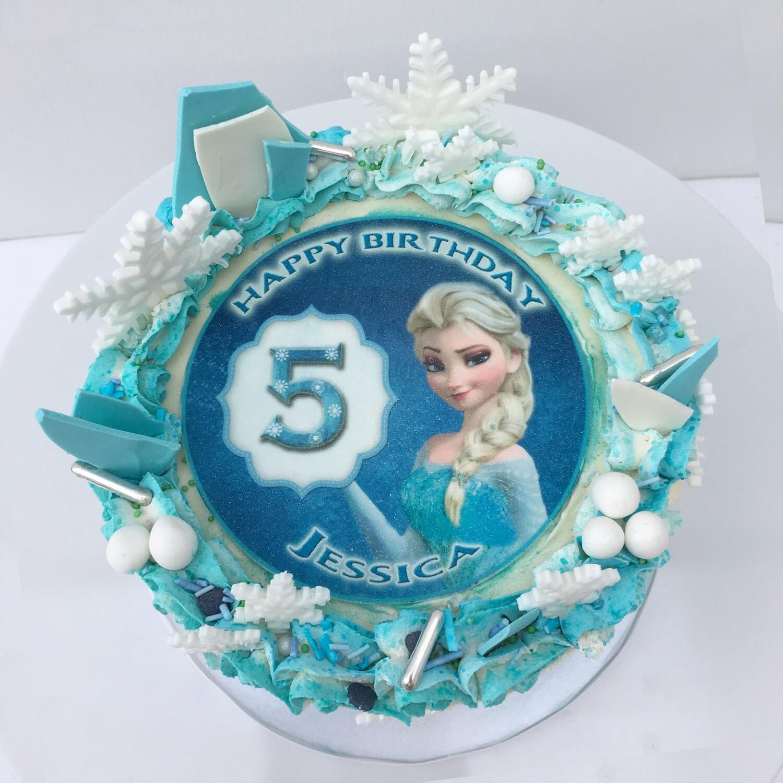 Frozen - Elsa Edible Image Cake