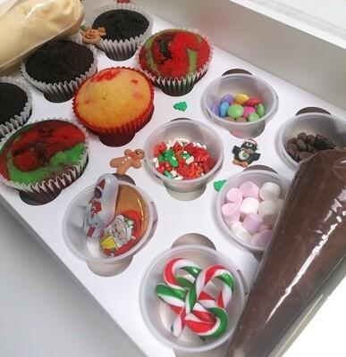 Christmas Cupcakes Decorating Kits