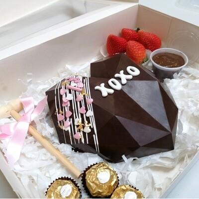 Geometric Breakable Chocolate Heart Gift Box