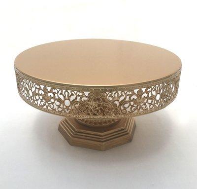 Dark Gold - Vintage with Filigree Design -  Pedestal -1 Tier Cake Stand - Code GD002