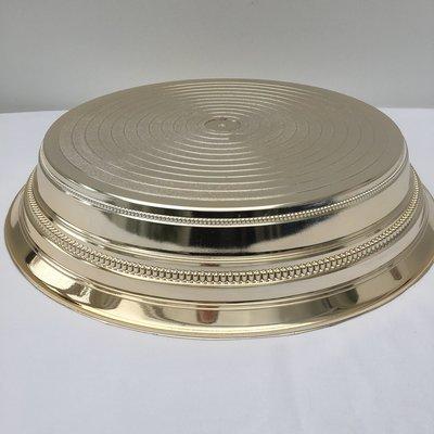 Light Gold -  Round Shinny  -  1 Tier Cake Stand - Code GR24
