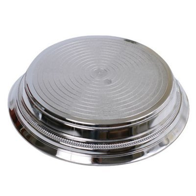 Silver - Round Shinny  -  1 Tier Cake Stand - Code GD021