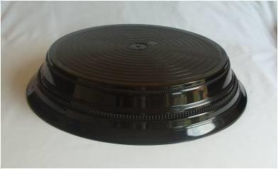 Black - Round - Shinny  -  1 Tier Cake Stand - Code BS19