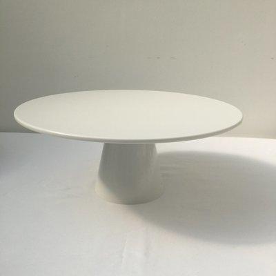 White - Large - Round - Ceramic - Pedestal - 1 Tier Cake Stand - Code WLR7