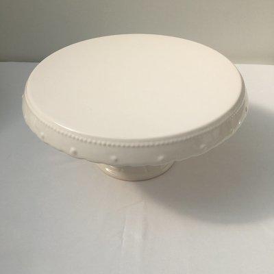 Cream - Round - Vintage - Ceramic  -  Pedestal -1 Tier Cake Stand - Code CVT8