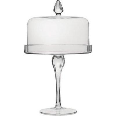 Glass - Round - Tall - Pedestal - 1 Tier Cake Stand - Code LTG010 - LARGE