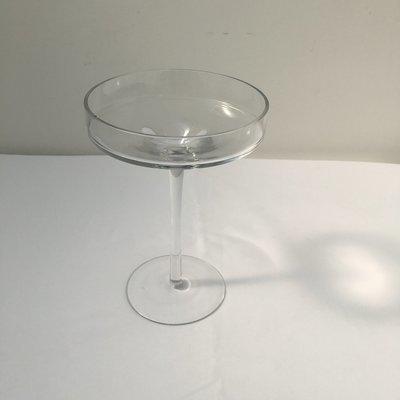 Glass - Round - Tall - Pedestal - 1 Tier Cake Stand - Code LTG010 - SMALL
