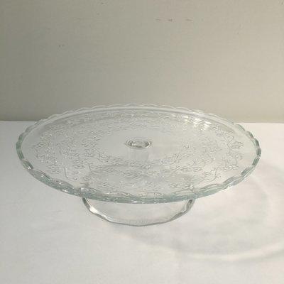 Glass - Round - Medium - Pedestal - 1 Tier Cake Stand - Code TG012