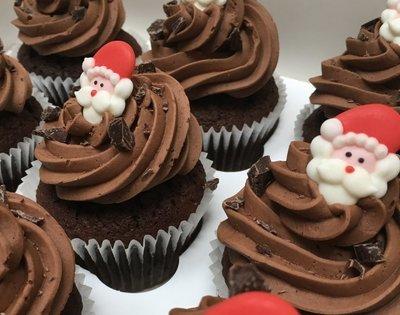 Luxury Christmas - Santa Cupcakes  - Minimum order 12 Cupcakes