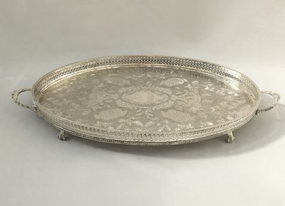 Silver - Large - Oval -  Platter - With two handles - Code SLO26