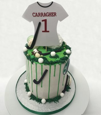 Hockey Themed Cake Drip Cake (Excluding Topper)