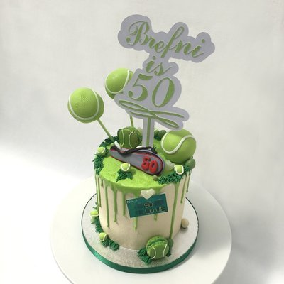 Tennis Themed Barrel Drip Cake (Excluding Topper)