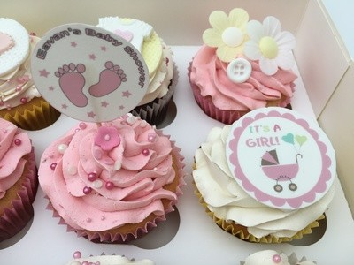 Luxury Baby -Shower Or Christening Party Cupcakes